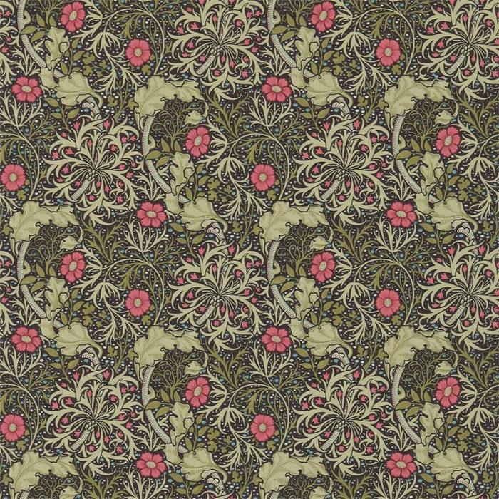 Morris and Co Seaweed Ebony Poppy 214716
