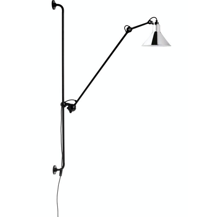 DCW Editions lampe gras N214 wandlamp chroom