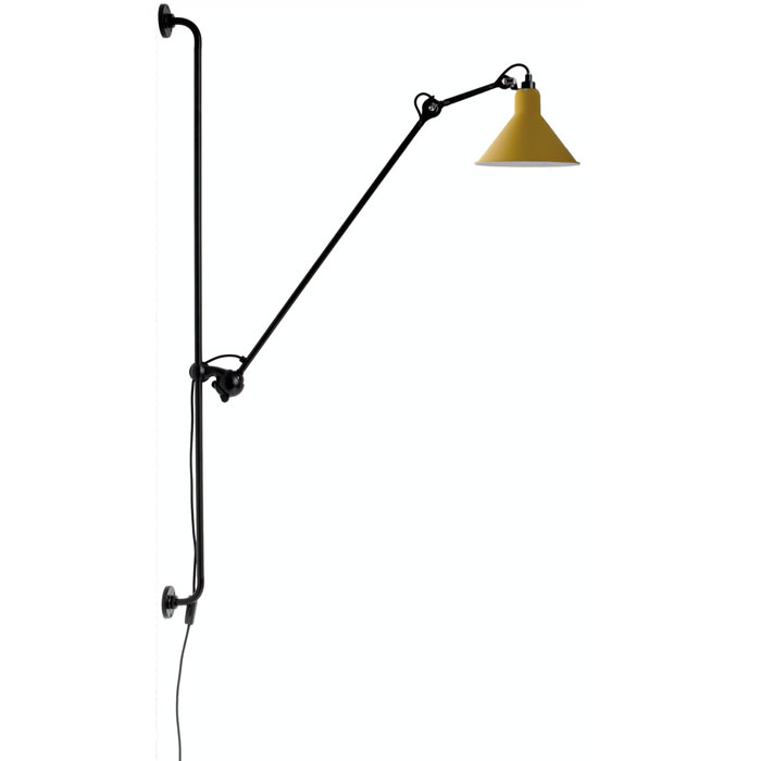 DCW Editions lampe gras N214 wandlamp geel