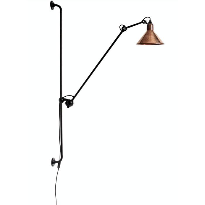 DCW Editions lampe gras N214 wandlamp ruw koper