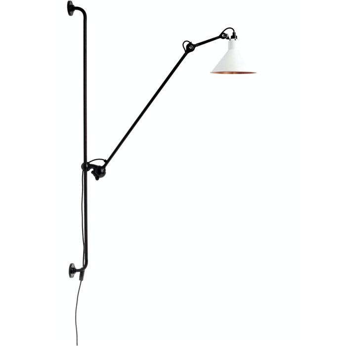 DCW Editions lampe gras N214 wandlamp wit met koper