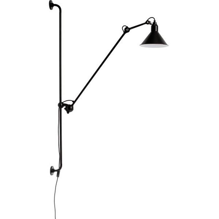 DCW Editions lampe gras N214 wandlamp zwart