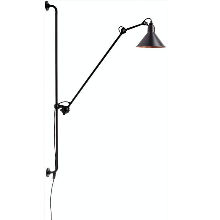 DCW Editions lampe gras N214 wandlamp zwart met koper