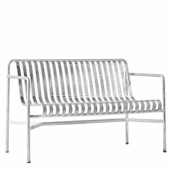 Hay Palissade dining bench hot galvanized
