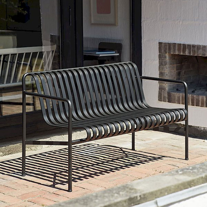Hay Palissade dining bench
