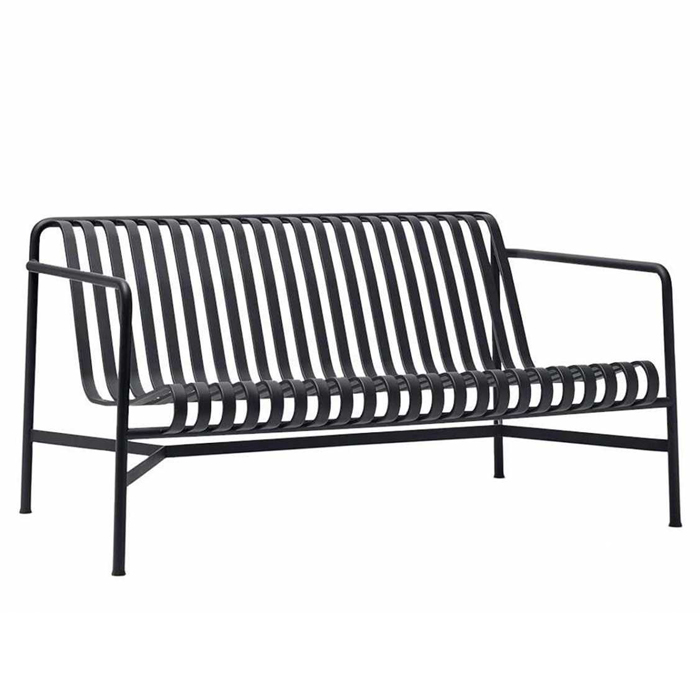 Hay Palissade lounge bench antraciet