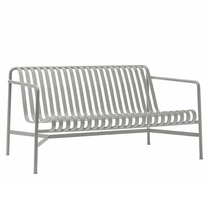 Hay Palissade lounge bench lichtgrijs