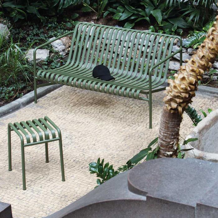 Hay Palissade lounge bench olijfgroen