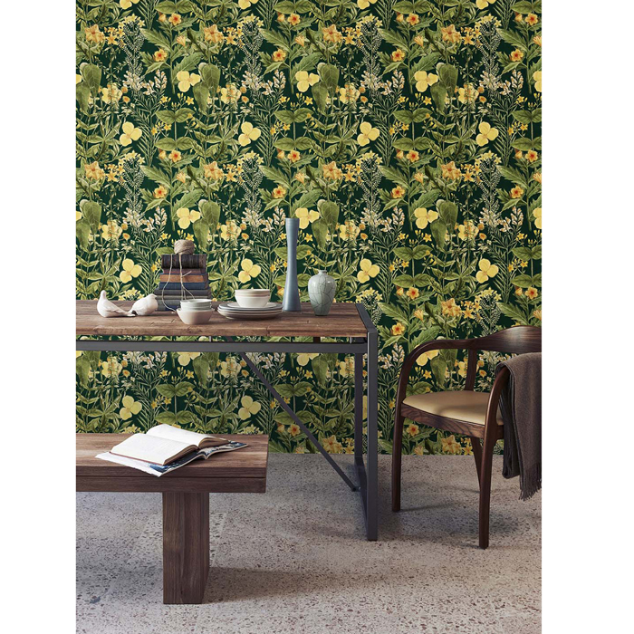 Mind the Gap behang Mimulus Anthracite WP20323