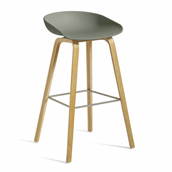 Hay AAS32 bar stool dusty green