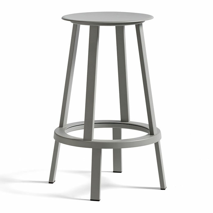 Hay Revolver Bar Stool H65 low sky grey