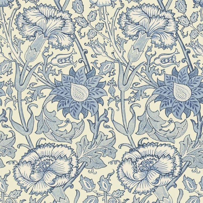 Morris and Co Pink and Rose Indigo 212567