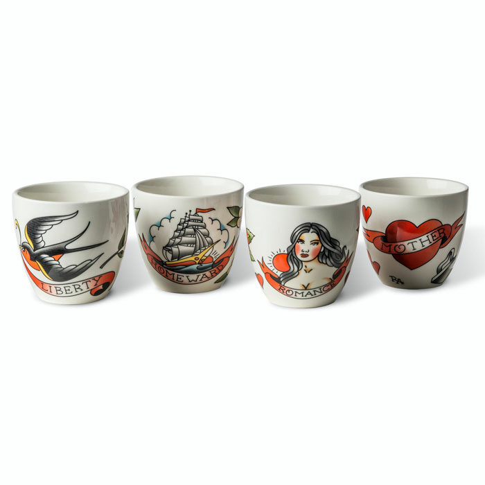 Pols Potten Cups Tattoo set 4