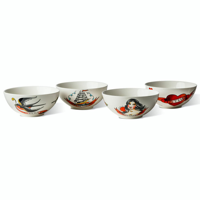 Pols Potten Salad bowl Tattoo set 4