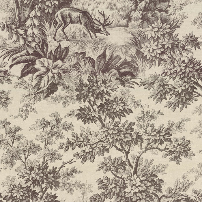 Little Greene Stag Toile Chocolat