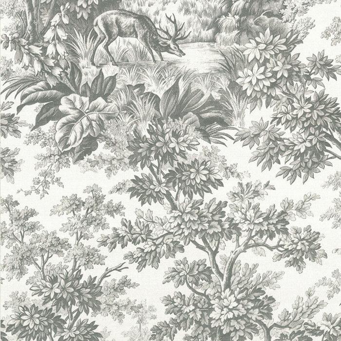 Little Greene Stag Toile juniper Moss