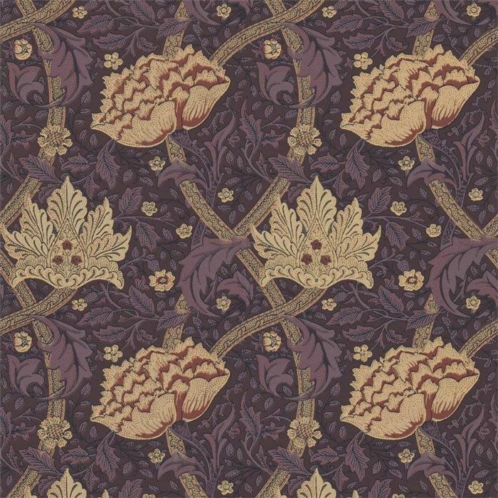 Morris & Co behang Windrush Aubergine 210492