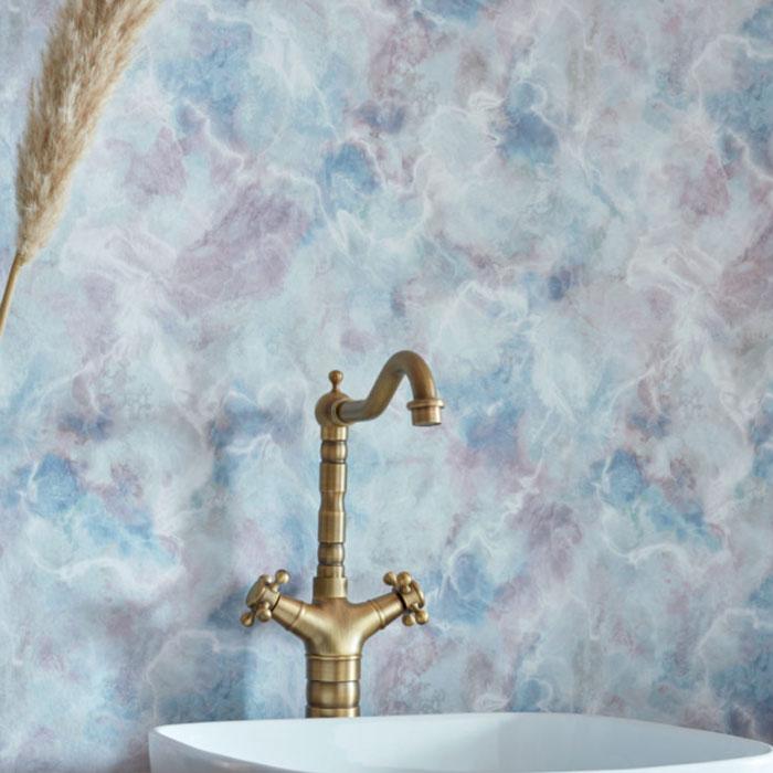 1838 Wallcoverings behang Quartz Blue dusk