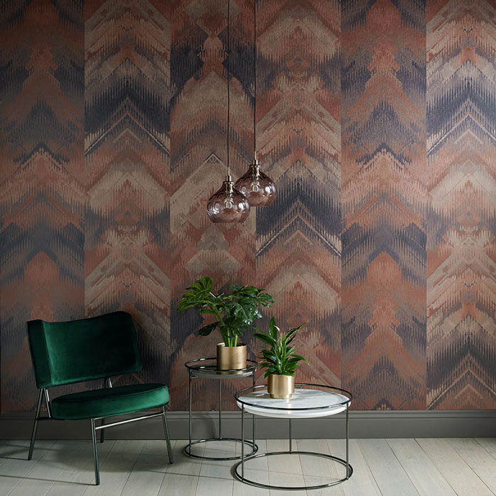 1838 Wallcoverings Reflections Copper mural