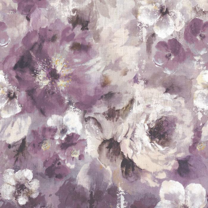 1838 Wallcoverings behang Bloom Magenta Purple
