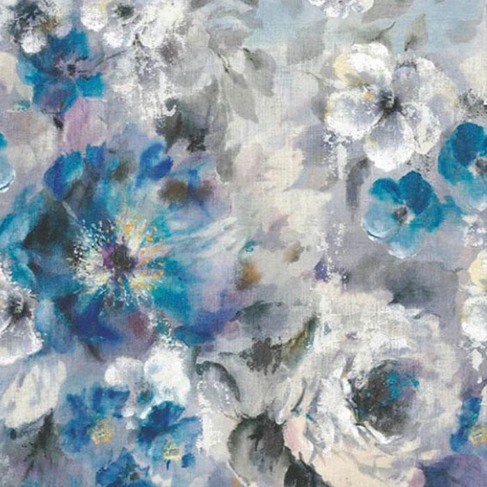 1838 Wallcoverings behang Bloom Sapphire Blue