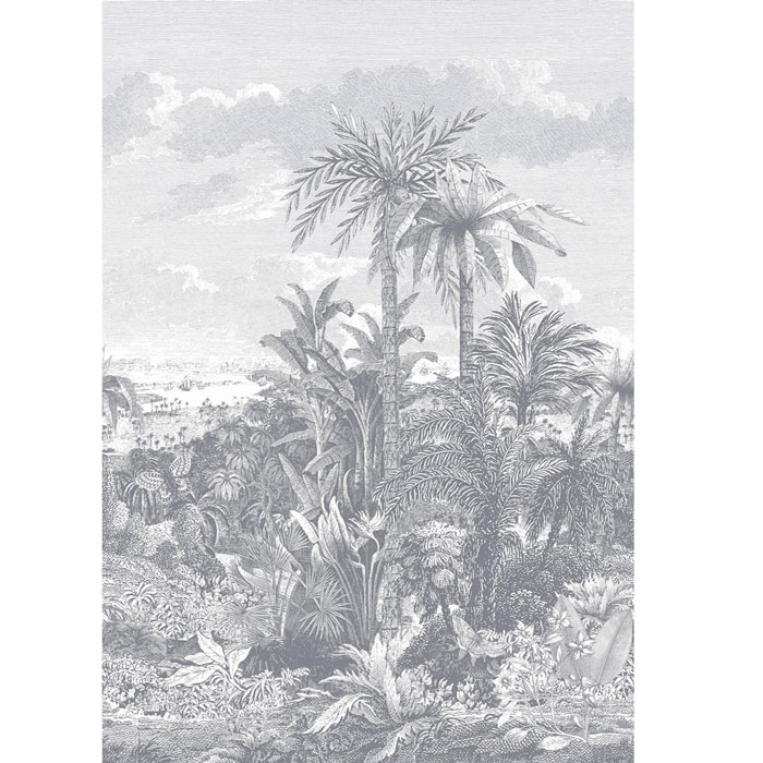 1838 Wallcoverings behang Paradise Found monochrome mural