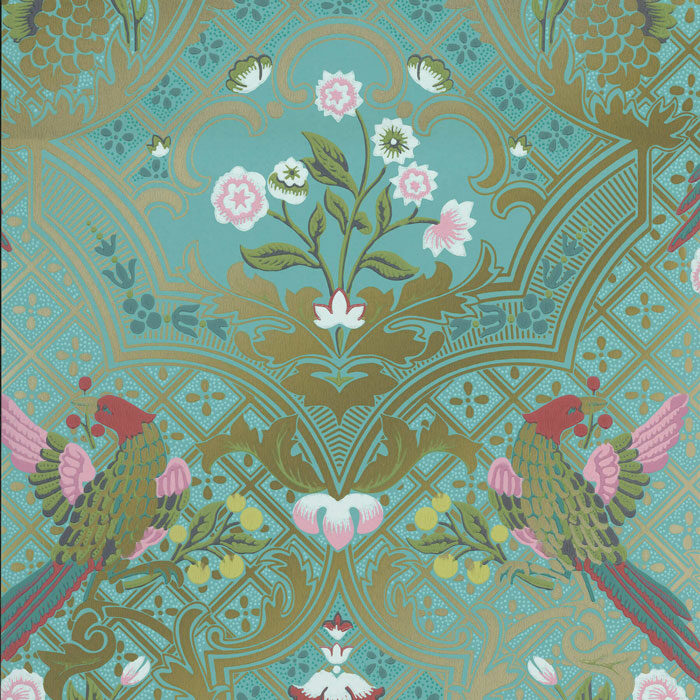 Little Greene behang Brodsworth Empress Green