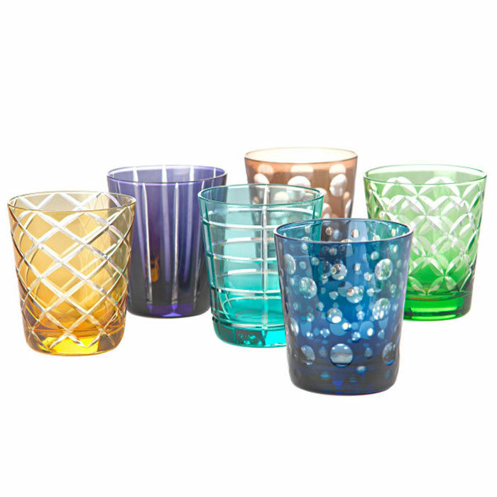 Pols Potten Waterglazen set 6 multicolour