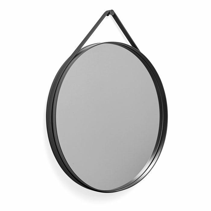 Hay Strap Mirror dia70 anthracite