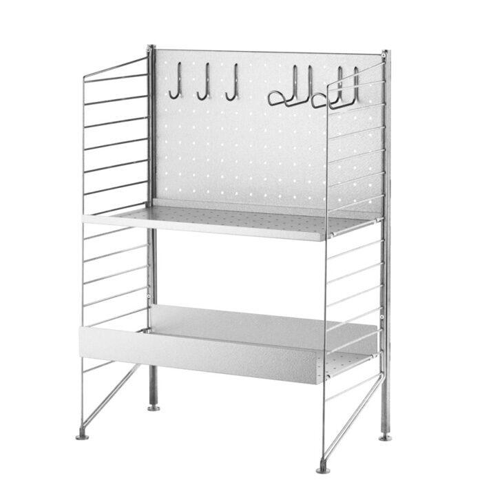 String Free standing shelf galvanized
