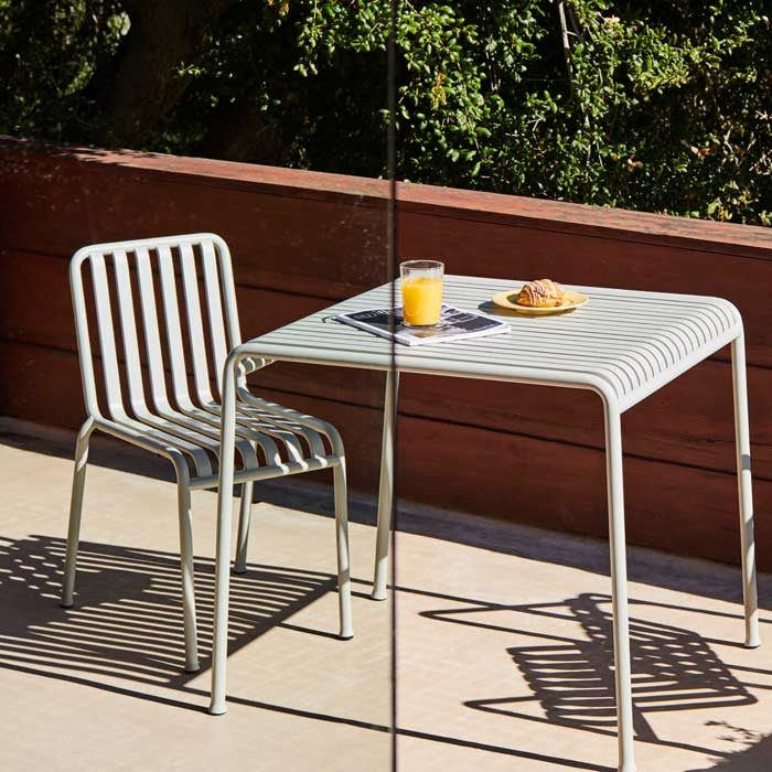 Hay Palissade chair table grey