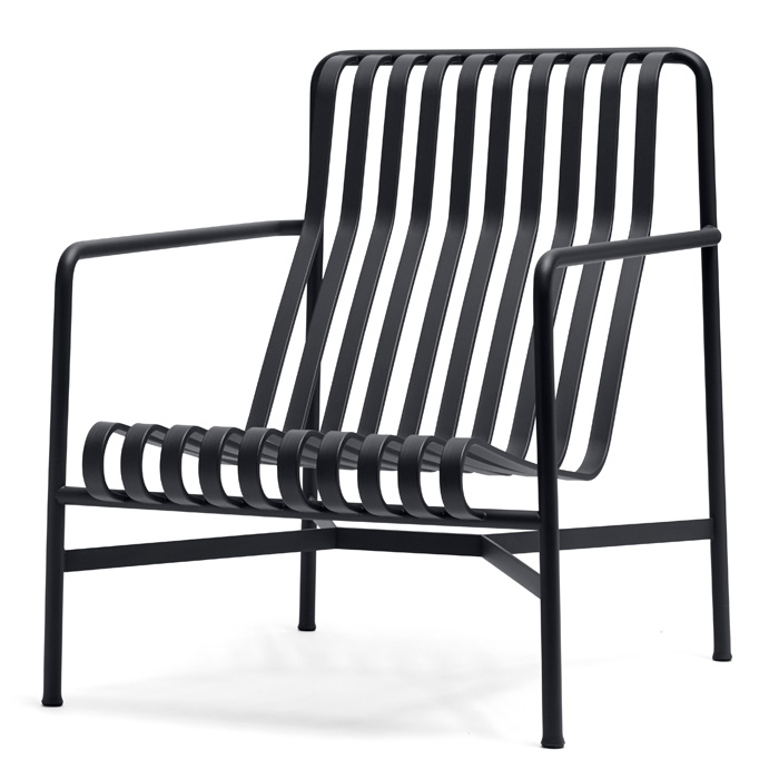 Hay Palissade Lounge chair high antraciet