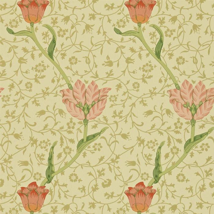 Morris & Co Garden Tulip Vanilla/Russet 210428