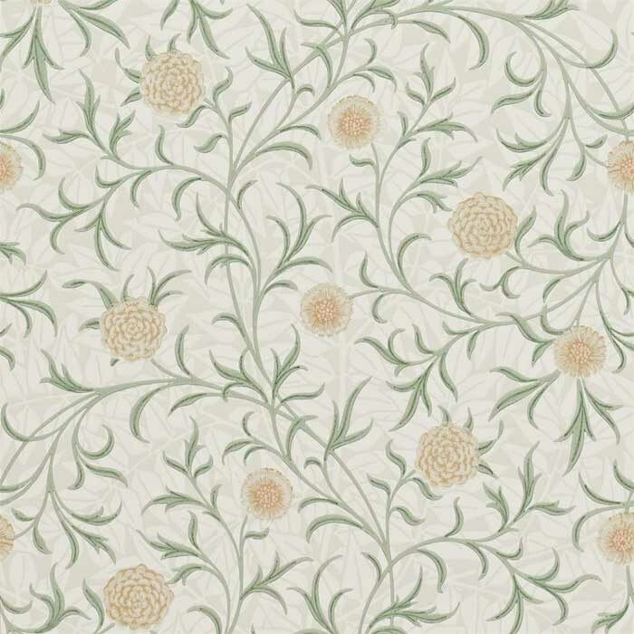 Morris and Co behang Scroll Thyme/pear 210365
