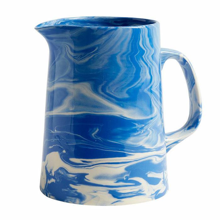 Hay Marbled Jug Blue