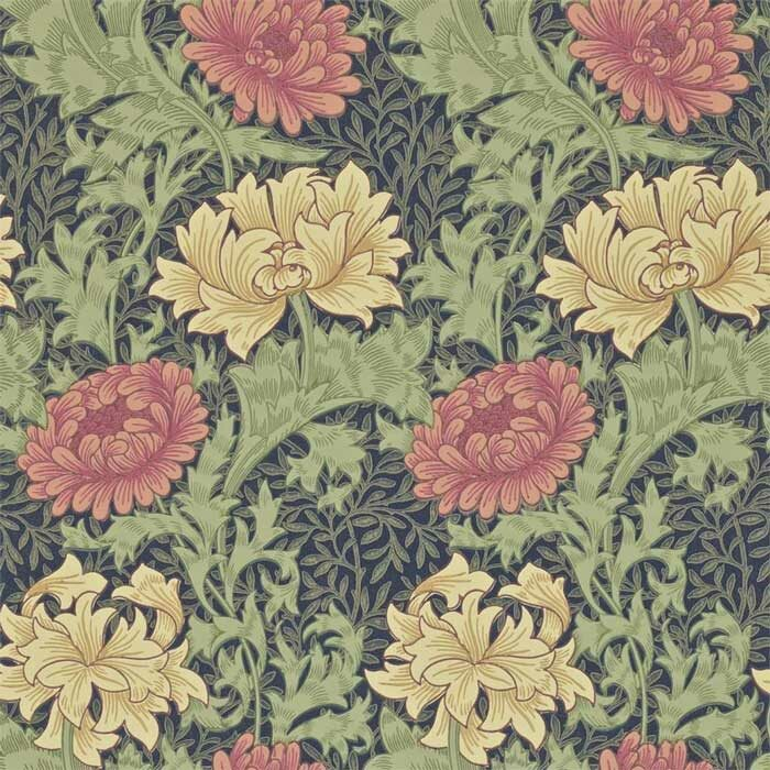 Morris and Co Chrysanthemum indigo 212549