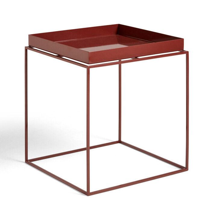 Hay Tray table 40x40 chocolate high gloss