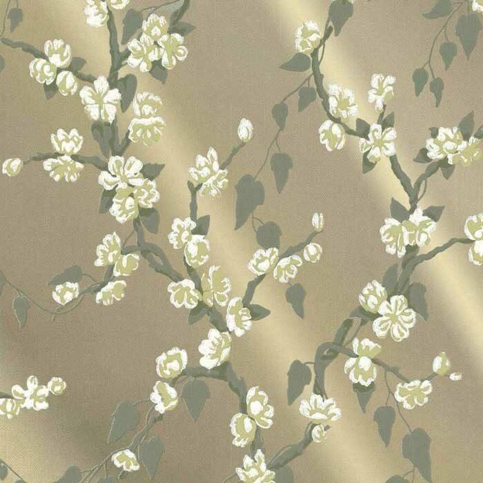 Little Greene behang Sakura Metal lustre