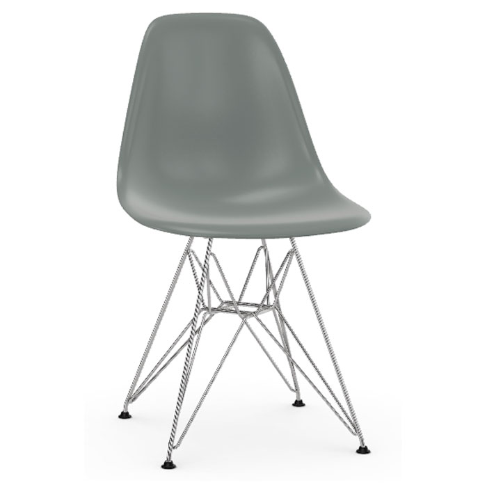 Vitra Eames DSR stoel verchroomd onderstel