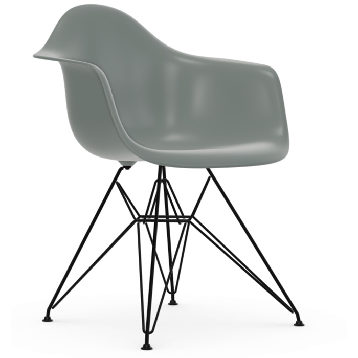 Vitra Eames Plastic Armchair DAR zwart onderstel lightgrey