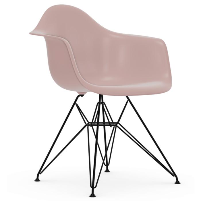 Vitra Eames Plastic Armchair DAR zwart onderstel pale rose