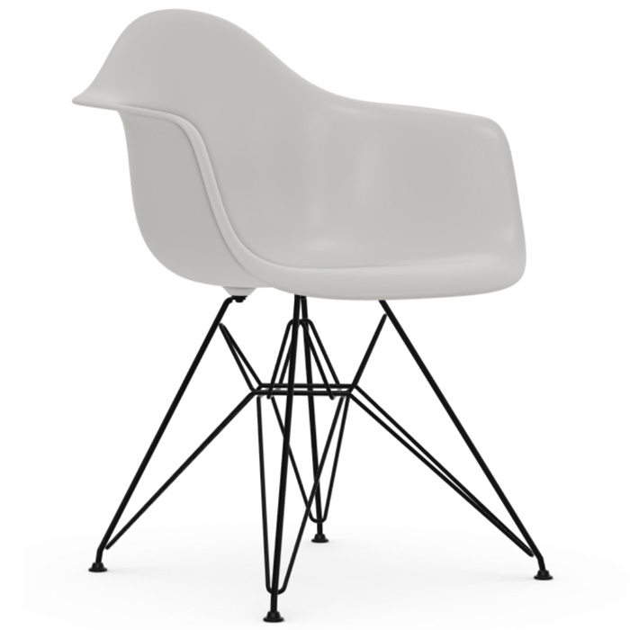 Vitra Eames Plastic Armchair DAR zwart onderstel wit