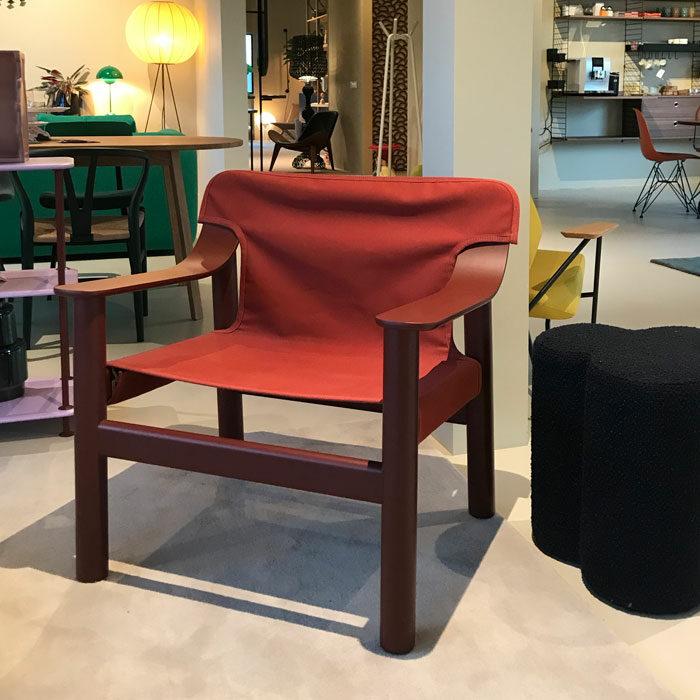 Hay Bernard fauteuil canvas rood