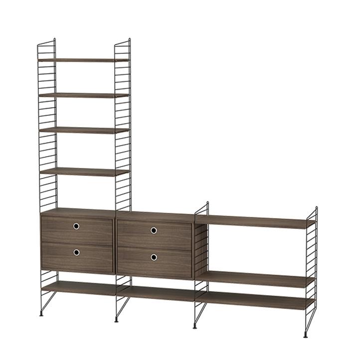 String Furniture Bundle J bruin walnoot