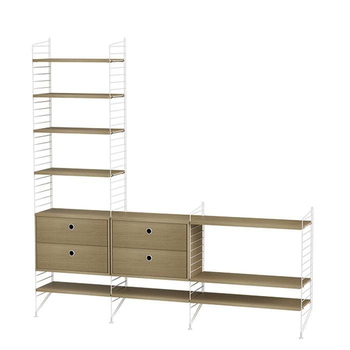 String Furniture Bundle J eiken met wit