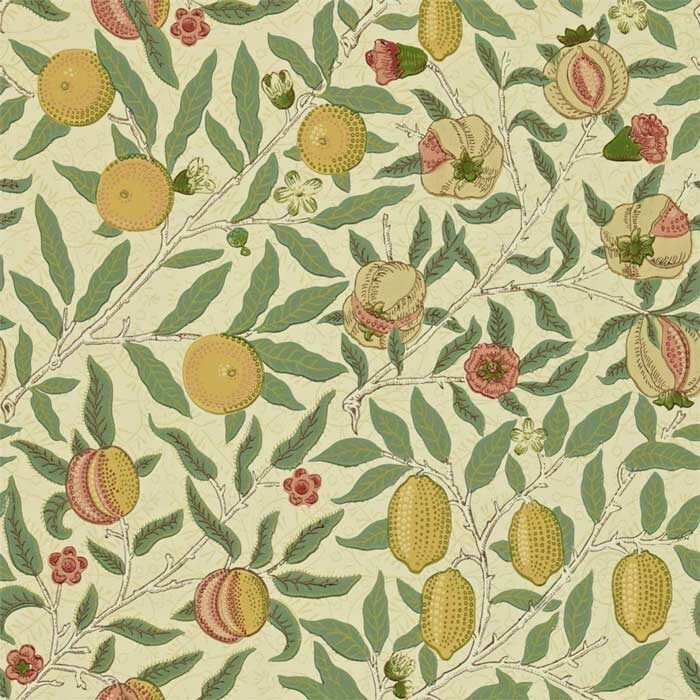 Morris and Co fruit beige/gold/coral