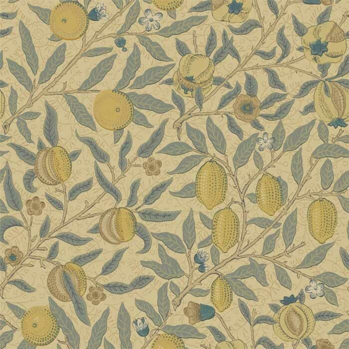 Morris and Co fruit blue/gold/brown