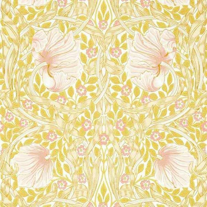 Morris and Co Pimpernel Sunflower Pink 217065