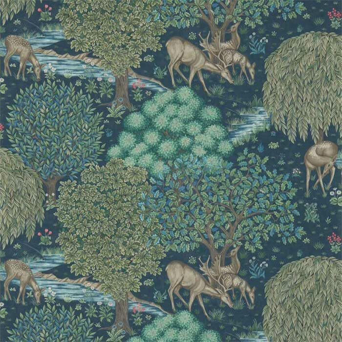 Morris and Co the Brook Tapestry blue 216479